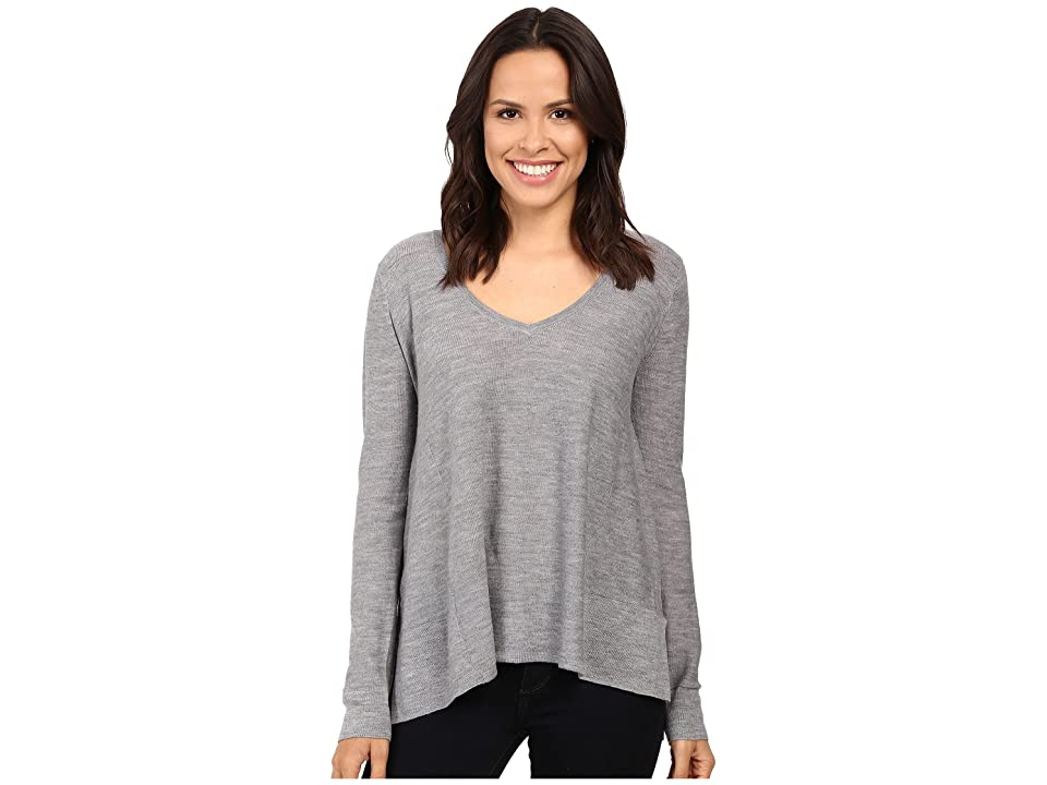 Three Dots Swingy V-Neck (Granite) Women