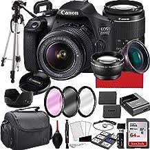 Canon EOS 2000D (Rebel T7) Cámara DSLR con lente de zoom 0.709-2.165in f/3.5-5.6, memoria de 64 GB, funda, trípode y más (paquete de 28 piezas)