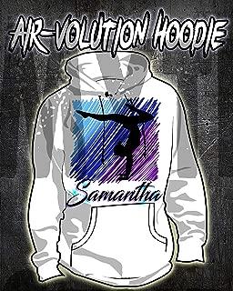 gymnastics personalised hoodie