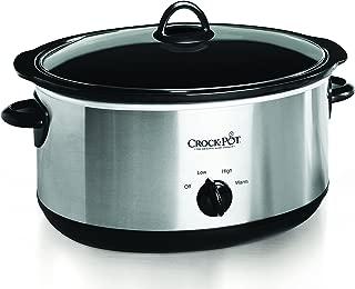 Crock-pot Oval Manual Slow Cooker, 8 quart, Stainless Steel (SCV800-S)
