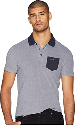 Polo in Two-Tone Pique Quality w/ Contrast Chest Pocket