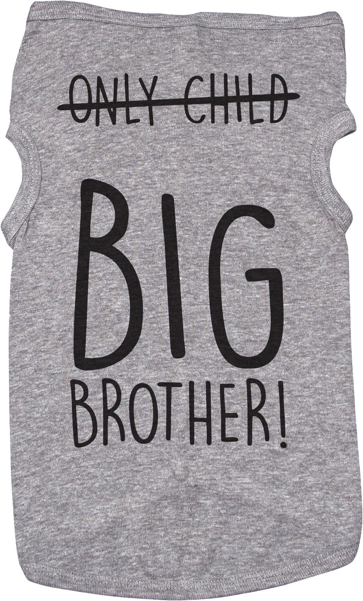 Future Big Brother Big Sister Pregnancy Announcement Shirt 10 Sizes Dog Raglan Tank Typography Black /& White