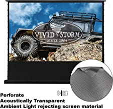 VIVIDSTORM Perforate Acoustically/Sound/Audio Transparent,Motorized Portable/Floor Rising Projection Screen,120 inch Diag 16:9, Perforated Long Focus ALR, Wireless Projector Trigger,VLDDSTPALR120H