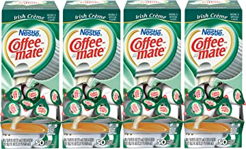 NESTLE COFFEE-MATE Coffee Creamer, Irish Creme, liquid creamer singles, 50 Count (Pack of 4)