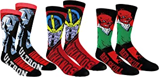 Mens Avengers Villains Casual Crew Socks 3 Pair Pack