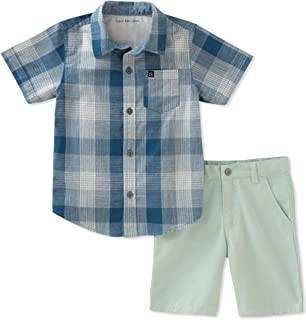 Calvin Klein Baby Boys' 2 Pieces Shirt Shorts Set