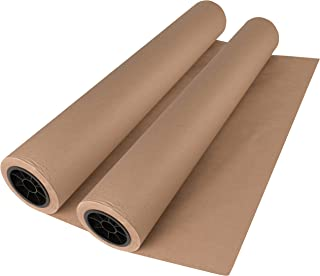 Brown Kraft Paper Roll 30 x 1800 Inches (150 Feet Long) 2 Rolls 100% Recycled Materials Multi-Use for Crafts, Art, Gift Wrapping, Packing, Postal, Shipping, Dunnage & Parcel. by Woodpeckers
