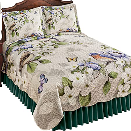 4 pc Twin Bed Set Comforters /& Pillow shams Reversible Floral to gingham check cool and crisp 64w x 80 long each new old stock all cotton
