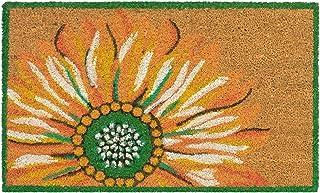 """Liora Manne Natura Summer Sunflower Yellow Outdoor Welcome Coir Door Mat, 1'6"""" x 2'6"""""""