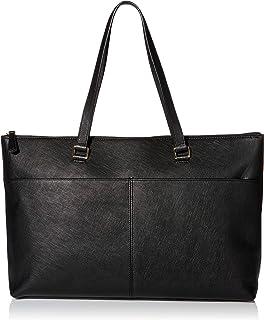 حقيبة يد جلدية للنساء من Buxton ، أسود