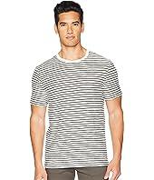 Vince - Slub Reverse Stripe Crew Neck T-Shirt