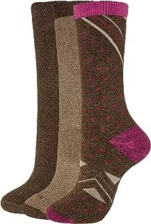 Dickies Women's 3-Pack Comfortable Full-Terry Cushion Crew Socks