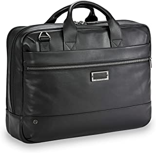Briggs & Riley Leather Medium Brief Briefcase
