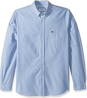 Lacoste Men's Long Sleeve Oxford Collar Regular Fit Woven Button Down Shirt