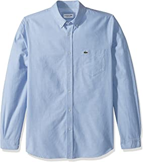 Lacoste Mens Long Sleeve Oxford Button Down Collar Regular Fit Woven Button Down Shirt