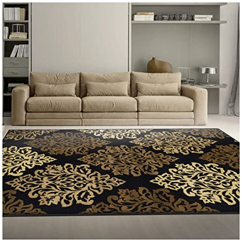 Outstanding Black And Brown Rug Amazon Com Ncnpc Chair Design For Home Ncnpcorg