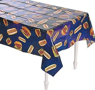 Fun Express Hot Dogs & Burgers Tablecloth - 54