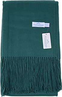 Himalaya Trading Company Classic Cashmere Blend Throw in Deep Sea Green