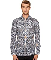 Eton - Slim Fit Large Paisley Print Shirt