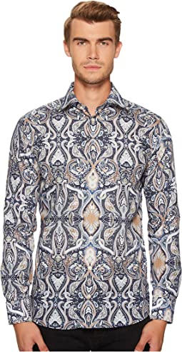 Eton - Slim Fit Large Paisley Print Shirt