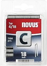Novus Smalle rugklemmen 18 mm, 1100 klemmen van type C4/18, optimaal hechtmiddel voor profielhout en panelen