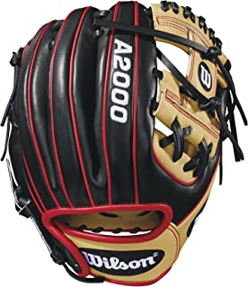 """Wilson WTA20RB18PF88 2018 A2000 PF88 Infield Gloves - Right Hand Throw Blonde/Black/Red, 11.25"""""""