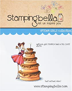 Stamping Bella Uptown Girl Bianca Loves Her Big Cake Cling Rubber Stamp, 6.5 x 4.5
