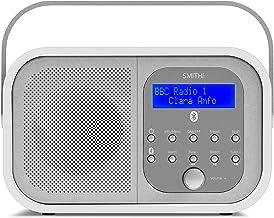 Smith-Style Retro H1 DAB+ FM DAB Digital Radio Bluetooth Portable Radio with Dual Alarm Clock & LCD Display – DAB Radio/FM...