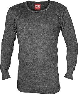 HEAT HOLDERS Men's Thermal Underwear 0.45 tog Long Sleeved Vest Charcoal Grey