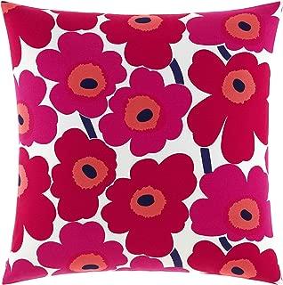 Marimekko Pieni Unikko Square Pillow, 26 x 26, Red
