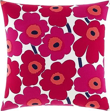 Marimekko Pieni Unikko Square Pillow, 26x26, Red