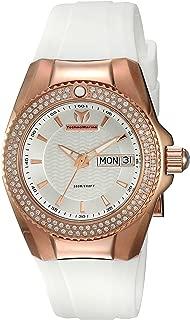 Technomarine Women's Cruise Gold Quartz Watch with Silicone Strap, White, 24 (Model: TM-115236)