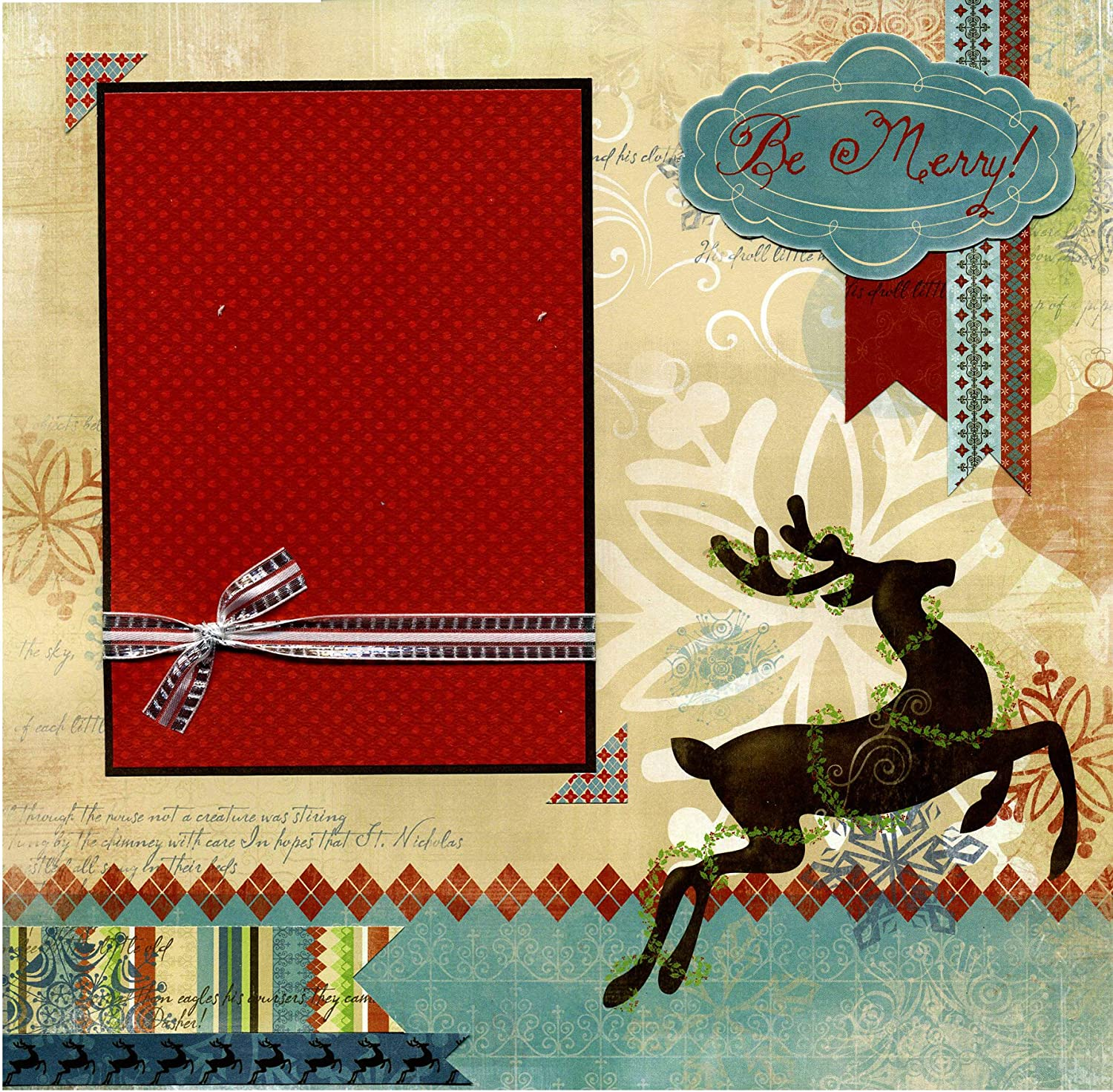 Be lowest price Merry - Premade Winter Scrapbook Today's only Page