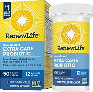 Renew Life Adult Probiotics 50 Billion CFU Guaranteed, 12 Strains, For Men & Women, Shelf Stable, Gluten Dairy & Soy Free,...