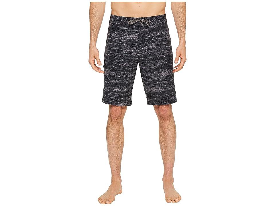 Under Armour UA Reblek Printed Boardshorts (Black Stealth/Gray Graphite) Men
