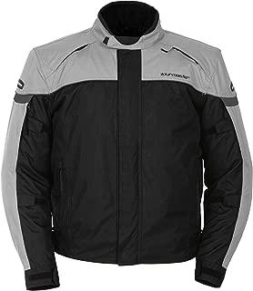 Tourmaster Mens Jett Series 3 Silver/Black Jacket - Small