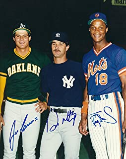 Autographed Jose Canseco, Don Mattingly & Darryl Strawberry 8x10 photo