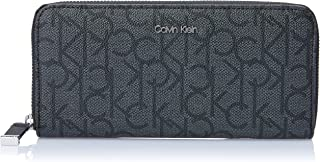 Calvin Klein Women's Hudson Zip Around Wallets, Asphalt/Black, One Size