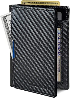 SERMAN BRANDS - Wallets for Men Slim Mens leather RFID Blocking Minimalist Card Front Pocket Bifold Travel Thin