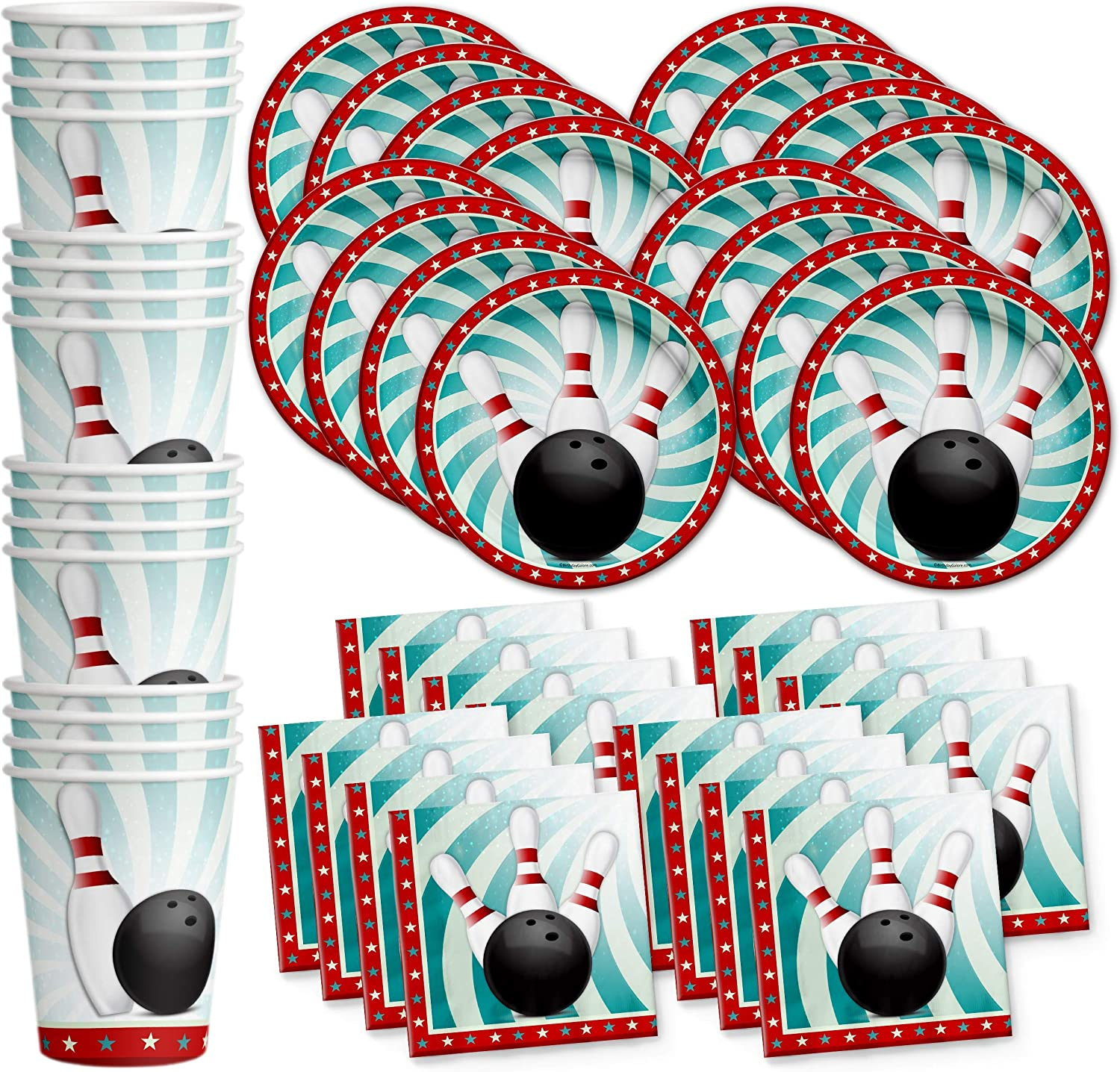 Bowling Classic Fun Birthday Weekly update Party Supplies Tabl Cups Set Napkins Plates