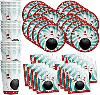 Bowling Fun Birthday Party Supplies Set Plates Napkins Cups Tableware Kit for 16 by Birthday Galore