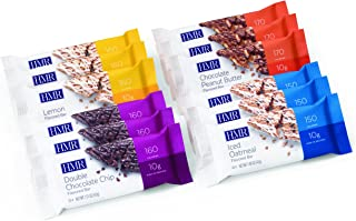 HMR Bar Variety Pack: 3 ea. of Chocolate Peanut Butter, Double Chocolate Chip, Iced Oatmeal, Lemon Flavored Bars, 12 Count