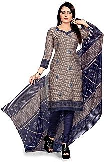 32c4f24dc8 Desimiss Kart Women's Cotton Unstitched Salwar Suit Dupatta Material  (SKU-1092O_Grey_Free Size)