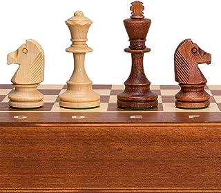 Wegiel Tournament No. 4 Staunton European Wood Chess Set, 16 Inches