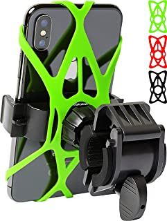 Bike Phone Mount for Any Smart Phone: iPhone X 8 7 6 5 Plus Samsung Galaxy S9 S8 S7 S7 S6 S5 S4 Edge, Nexus, Nokia, LG. Motorcycle, Bicycle Phone Mount. Mountain Bike Mount. Bike Accessories.