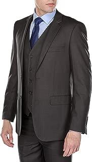 Gino Vitale Mens Modern Fit Glen Plaid 3 Piece Suit