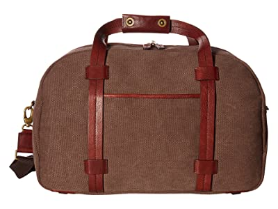Bosca Washed Leather Collection Duffel (Brown/Dark Brown) Duffel Bags