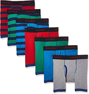 Boys' Comfort Flex Fit Sport Ringer Boxer Briefs