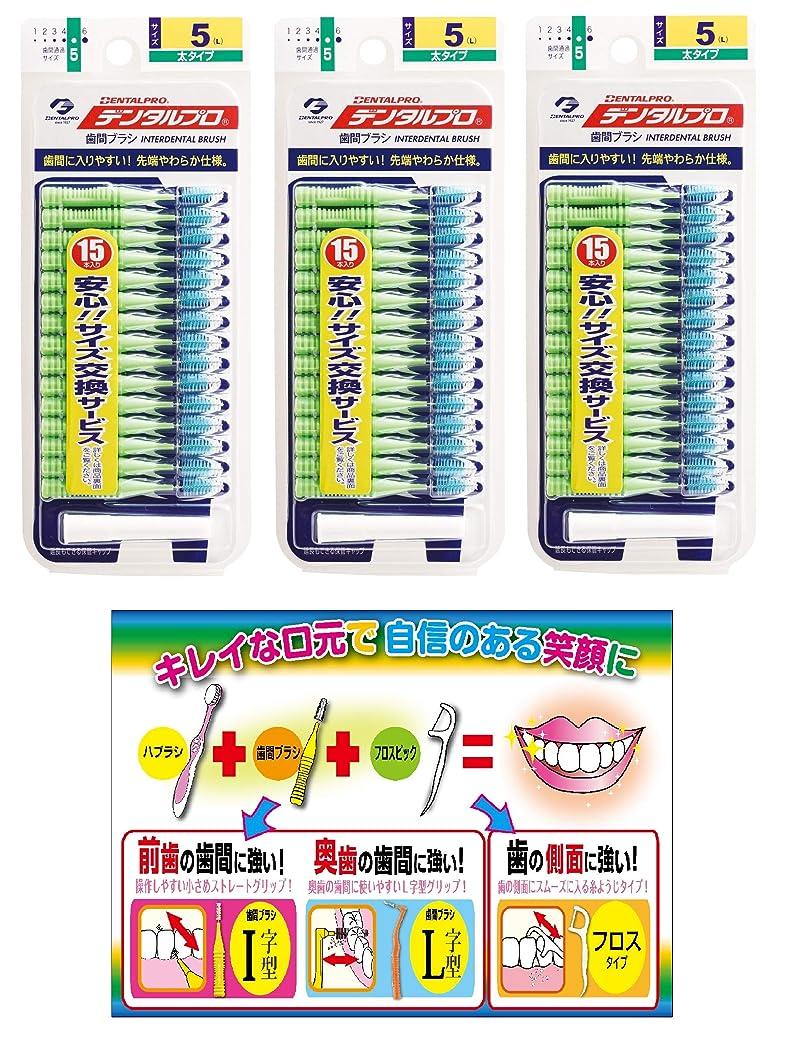 ウェイター保証無謀【Amazon.co.jp限定】DP歯間ブラシ15P サイズ5 3P+リーフレット