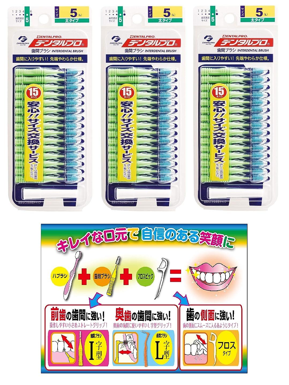 抗議織機等【Amazon.co.jp限定】DP歯間ブラシ15P サイズ5 3P+リーフレット
